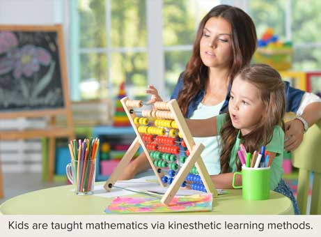 Boston education acquaints young children (ages 7 to 10) to mathematics via kinesthetic learning methods
