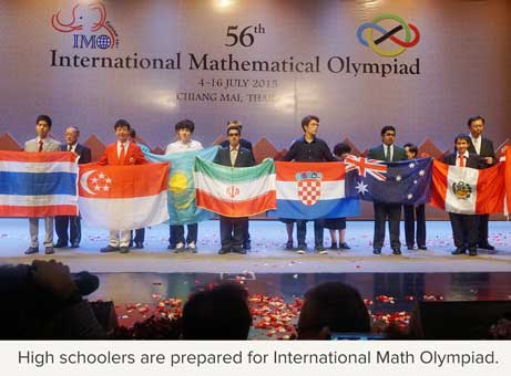 High schoolers are prepared for International Math Olympiads.